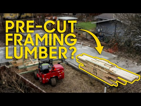 Framing with a Pre-Cut Package! Less money & waste when lumber is super expensive! [Video]