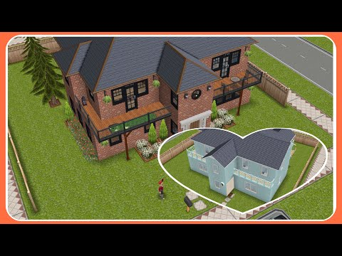SIMS FREEPLAY   Architect Home Remodel # 12 {Small Lot} [Video]