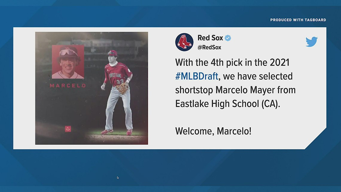 Red Sox draft Marcelo Mayer with #4 overall pick in MLB Draft [Video]