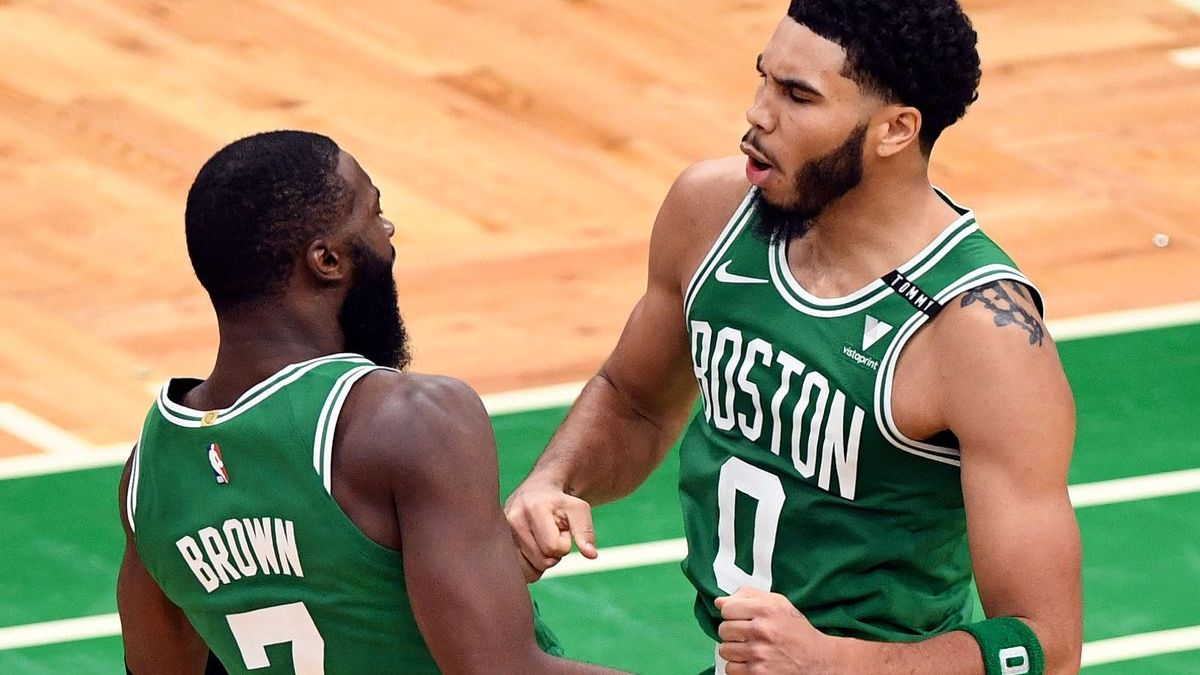 Fired-Up Jaylen Brown Wears Gold Medal In Photo With Jayson Tatum [Video]