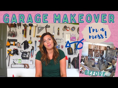 GARAGE MAKEOVER — CLEAN & ORGANIZE WITH ME + BLOOPERS [Video]