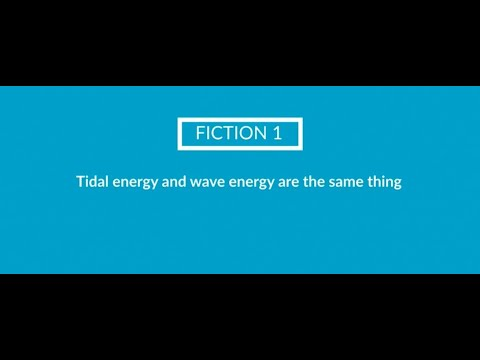 FICTION 1. Tidal energy and wave energy are the same thing [Video]