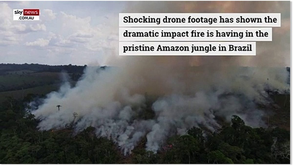 Drone footage shows the extent of devastating fires burning in Amazon rainforest – well above historic average for 3rd consecutive year — Earth Changes – [Video]