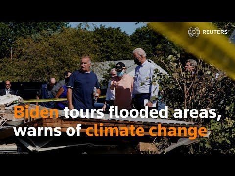 Biden tours flood-hit areas, warns of climate change [Video]