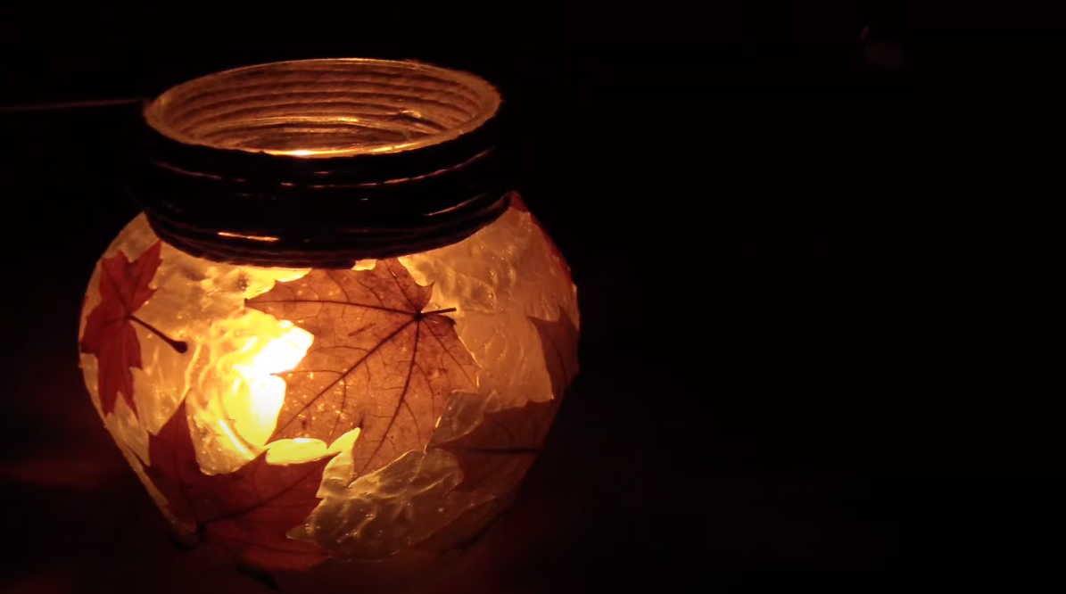 Natural Craft: Make a leaf lantern with your child [Video]