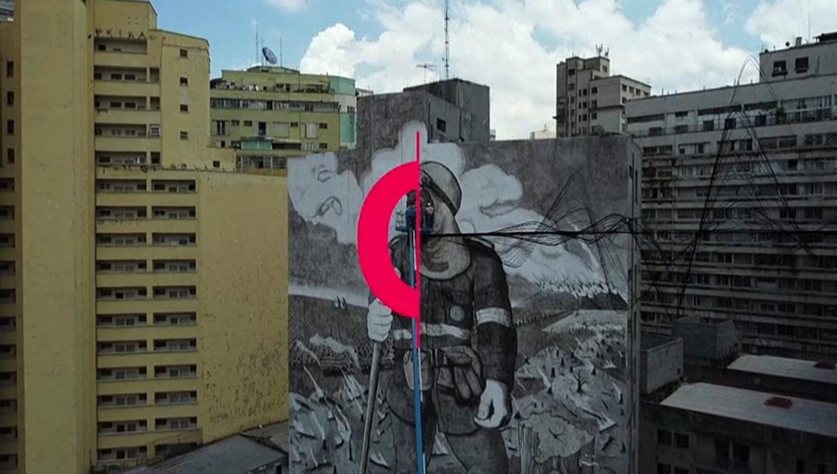 Brazil: a mural made with the ashes of the [Video]
