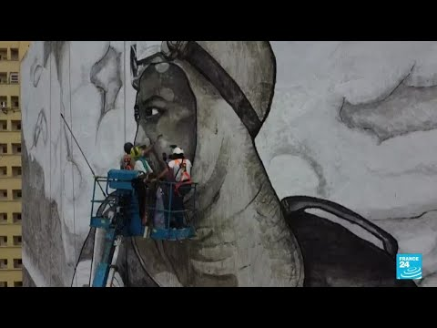 Ashes from Amazon transformed into city mural to raise climate awareness • FRANCE 24 English [Video]