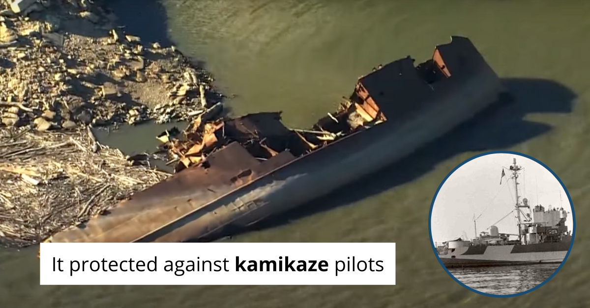 Low Mississippi River Water Levels Reveal Sunken WWII Ship [Video]