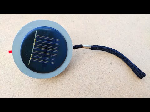 How to make a rechargeable handy lamp at home | With solar panels | [Video]